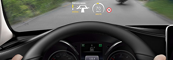Mercedes hartmann head up display for Mercedes benz heads up display